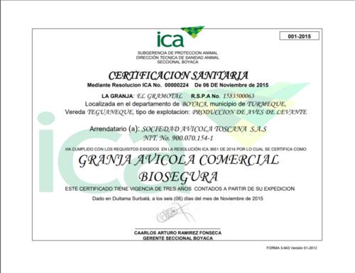 certificado ica