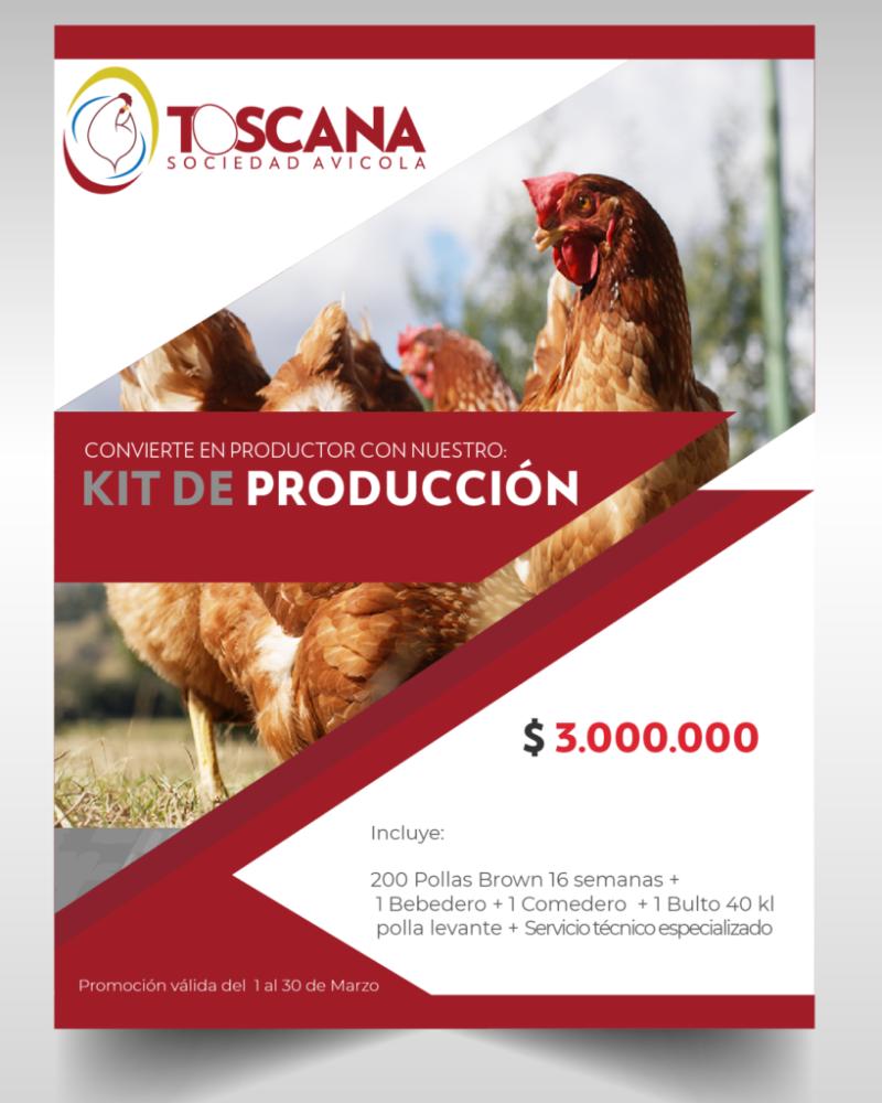 Kit 200 Pollas $3.000.000